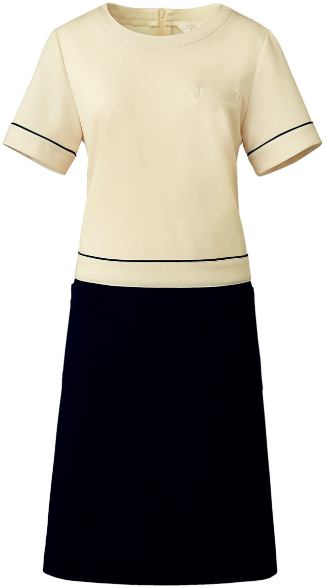 【Calala】CL-0202【ワンピース・白衣・半袖ナースウェア】★エステ・クリニック向け★