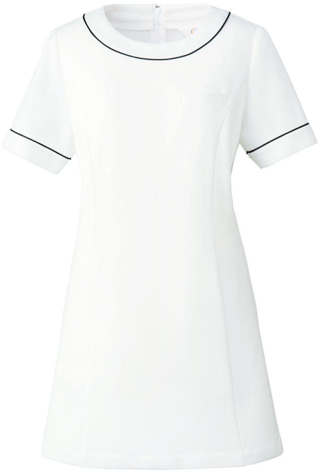 【Calala】CL-0204【チュニック・白衣・半袖ナースウェア】★エステ・クリニック向け★