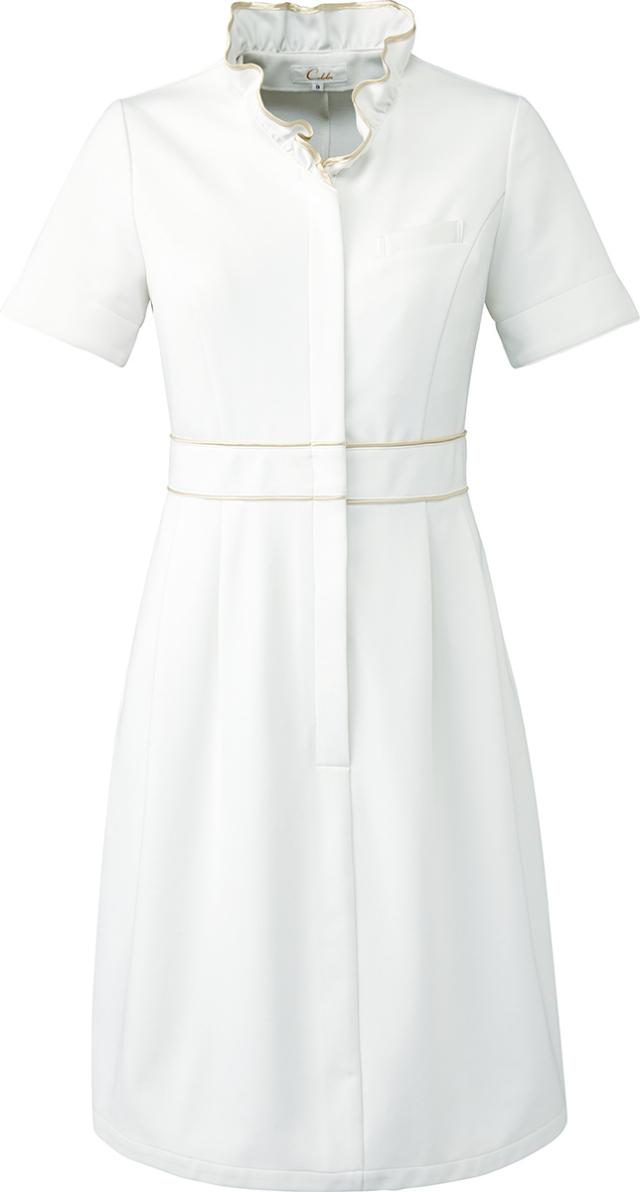 【Calala】CL-0220【ワンピース・白衣・半袖ナースウェア】★エステ・クリニック向け★☆2015年新作商品