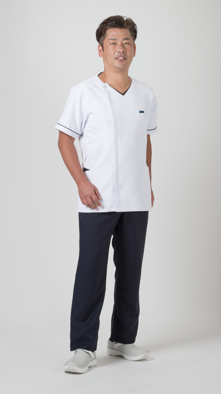 【FOLK】1016EW【ジップアップスクラブ・男性白衣・メンズジャケット】☆2014年新作商品☆
