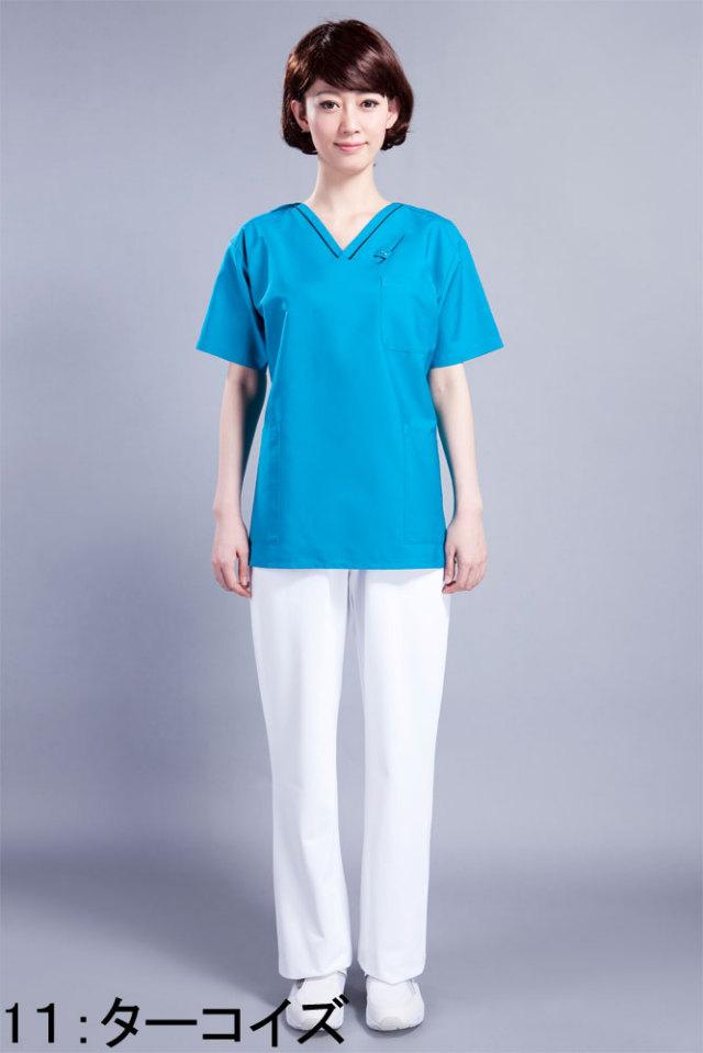【FOLK】7003SC【スクラブ(男女兼用)・白衣・半袖上衣】