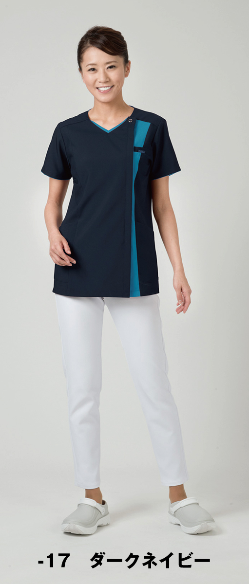 【FOLK】7023SC【ジップスクラブ・白衣・半袖上衣】☆2014年新作商品☆