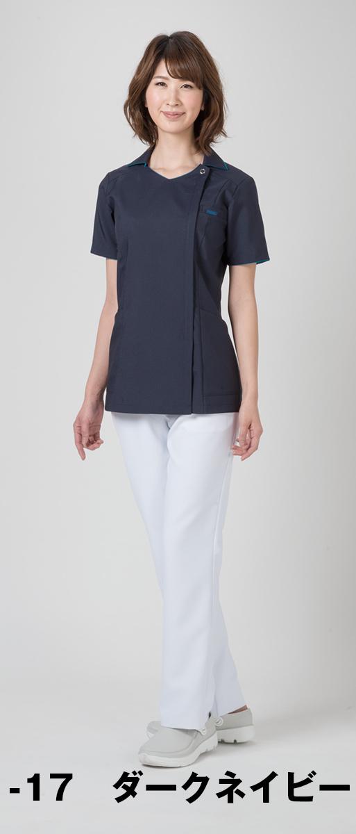 【FOLK】7024SC【ジップアップスクラブ・白衣・半袖上衣】☆2014年新作商品☆