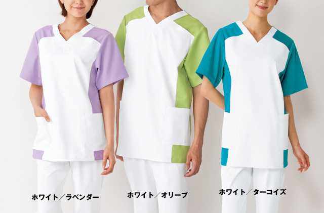 【KAZEN(旧アプロン)】019【男女兼用スクラブ・白衣】