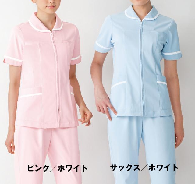 【KAZEN(旧アプロン)】101【ナースジャケット・半袖ナースウェア・上衣・レディース】