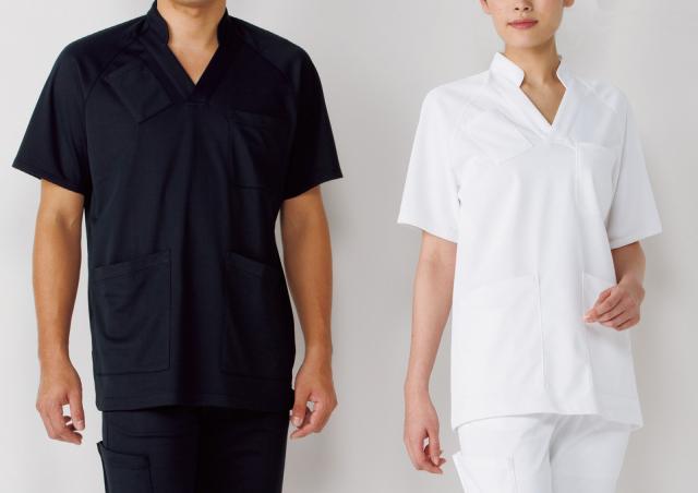 【KAZEN(旧アプロン)】134【男女兼用衿付きスクラブ・白衣】