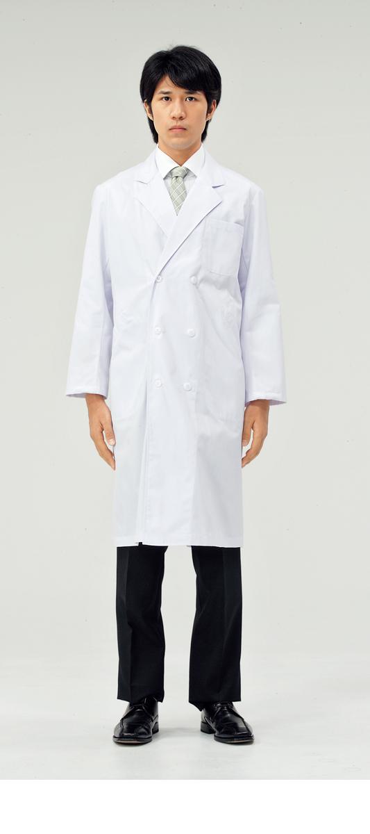 【モンブラン】51-615【ドクターコート(メンズ)・白衣・男子診察衣】