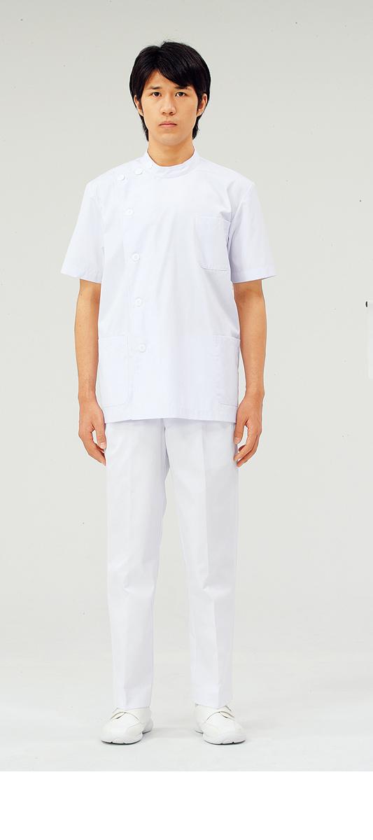 【モンブラン】52-602【ケーシー(KC)・男性白衣・半袖上衣】