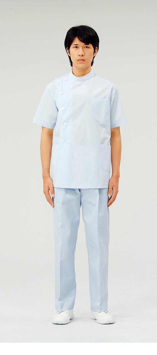 【モンブラン】52-604【ケーシー(KC)・男性白衣・半袖上衣】