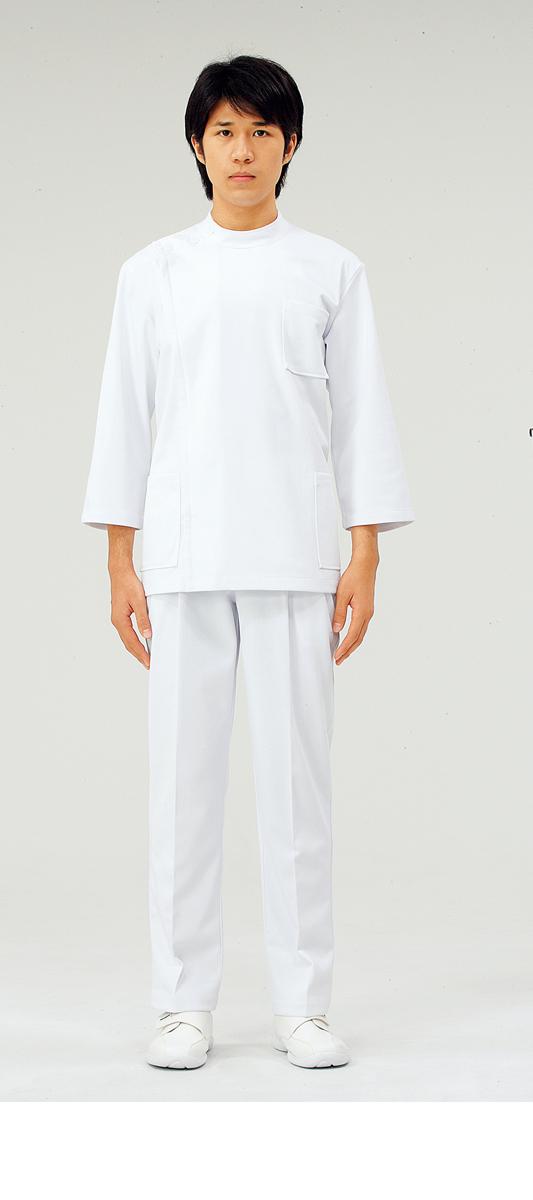 【モンブラン】52-821【ケーシー(KC)・男性白衣・8分袖上衣】