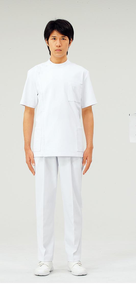 【モンブラン】52-822【ケーシー(KC)・男性白衣・半袖上衣】