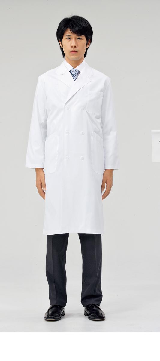 【モンブラン】71-671【ドクターコート(メンズ)・白衣・男子診察衣】