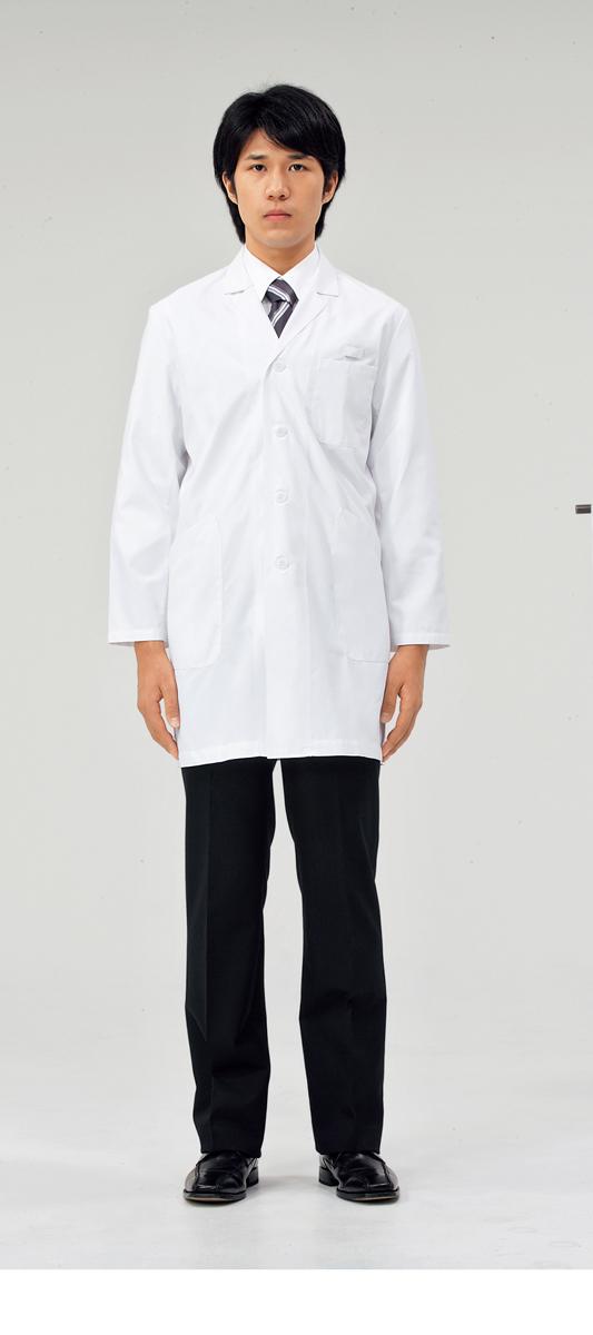 【モンブラン】71-681【ドクターコート(メンズ)・白衣・男子診察衣】