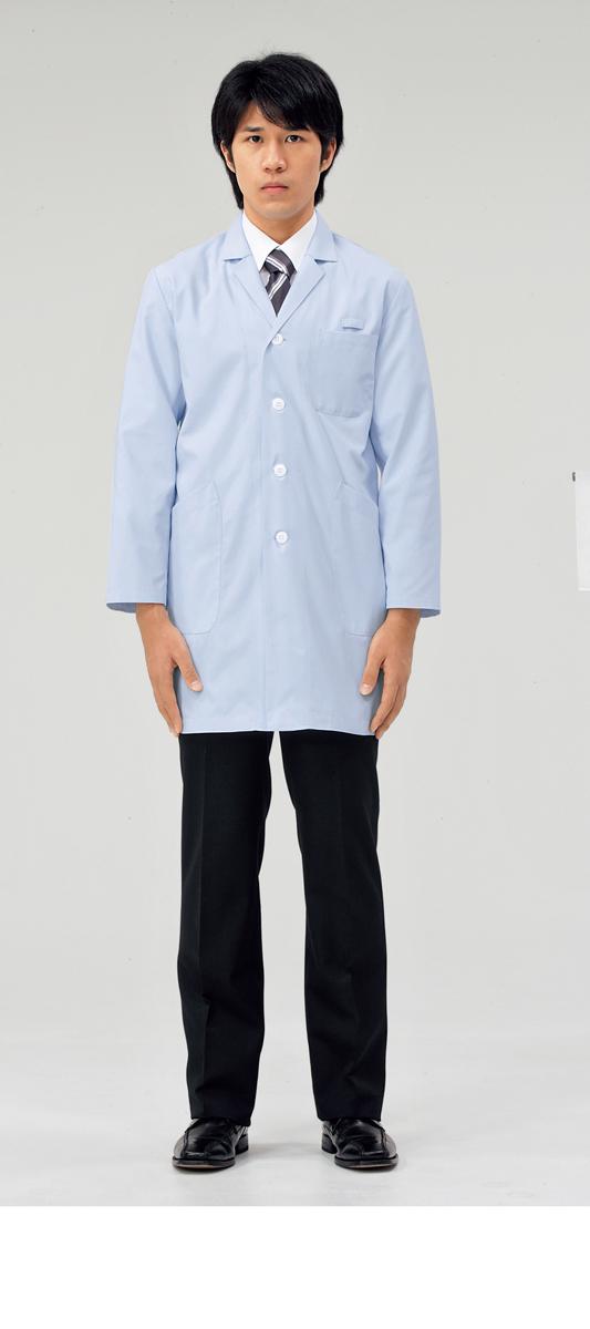 【モンブラン】71-683【ドクターコート(メンズ)・白衣・男子診察衣】