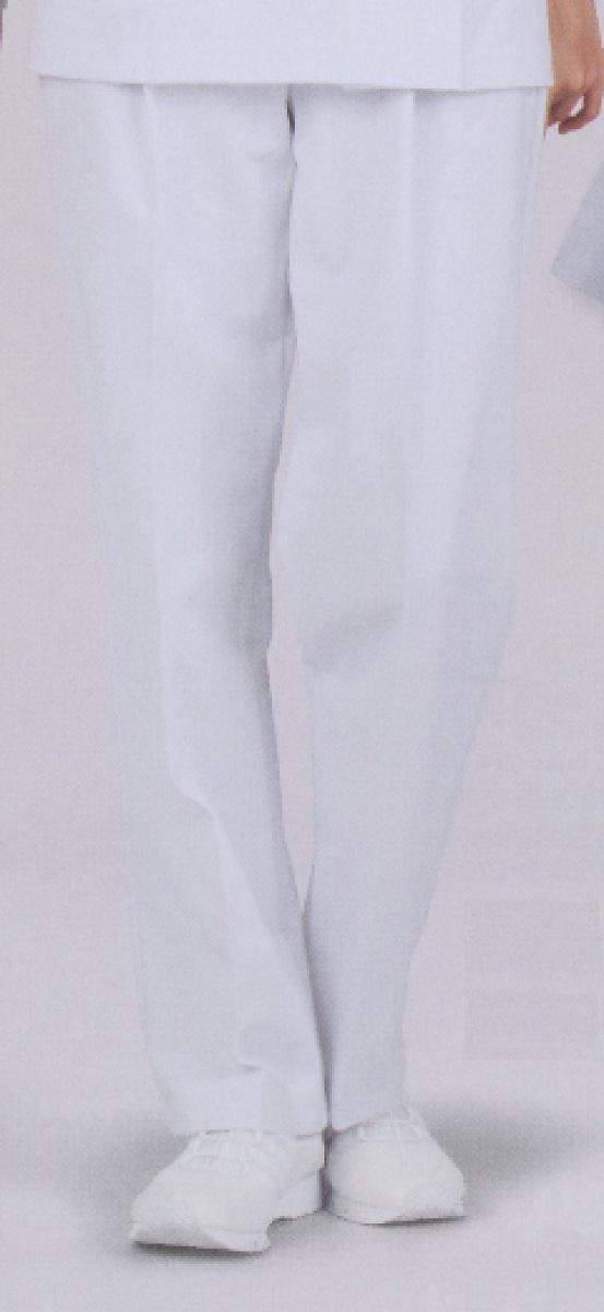 【モンブラン】72-091【ツータックパンツ・女子ナースウェア・ゆったりタイプ】