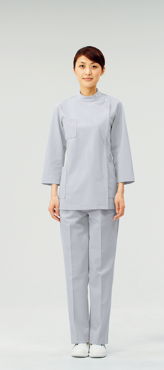 【モンブラン】72-215【ケーシー(KC)・白衣・8分袖上衣】