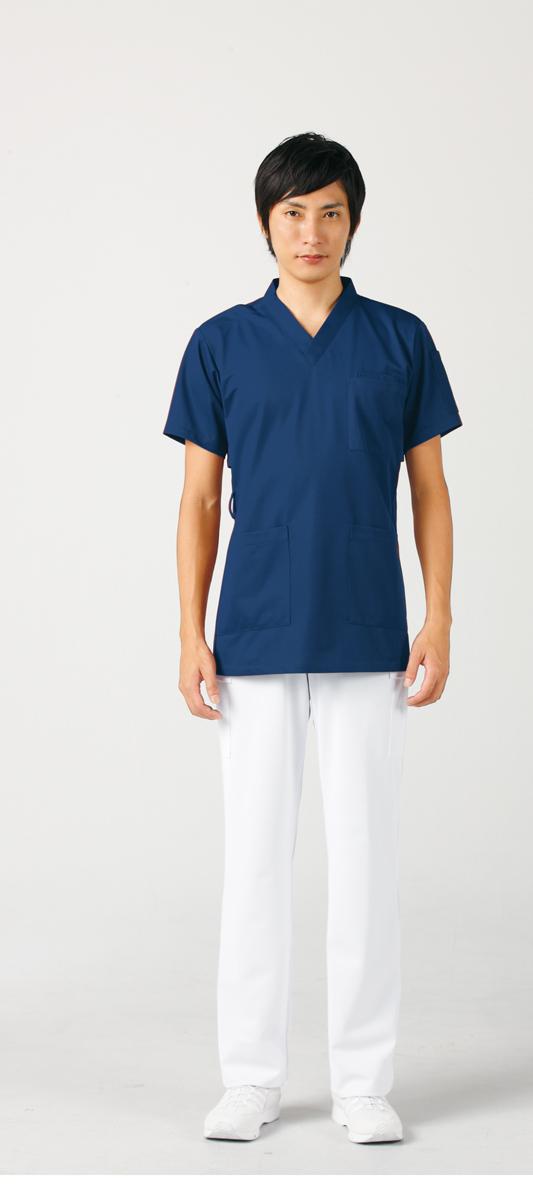 【モンブラン】72-614【ジャケット(男女兼用)・白衣・半袖スクラブ】