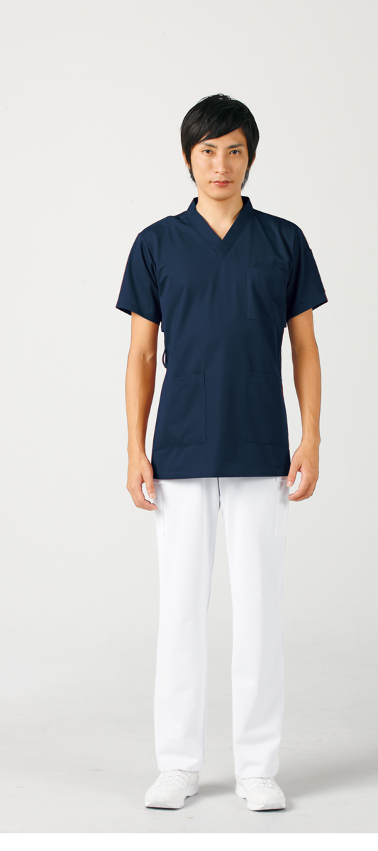【モンブラン】72-619【ジャケット(男女兼用)・白衣・半袖スクラブ】