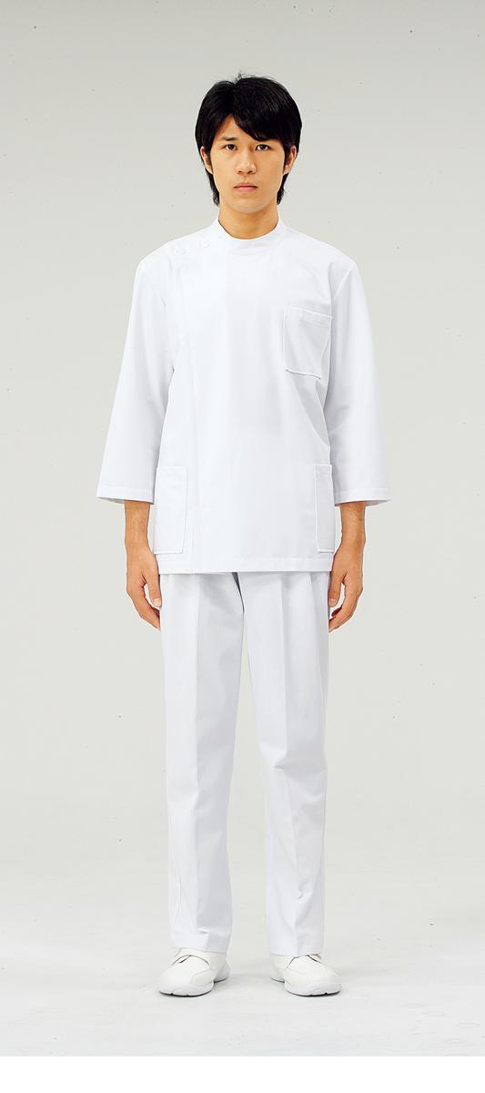 【モンブラン】72-701【ケーシー(KC)・男子白衣・8分袖上衣】