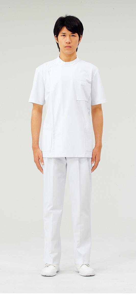 【モンブラン】72-702【ケーシー(KC)・男子白衣・半袖上衣】