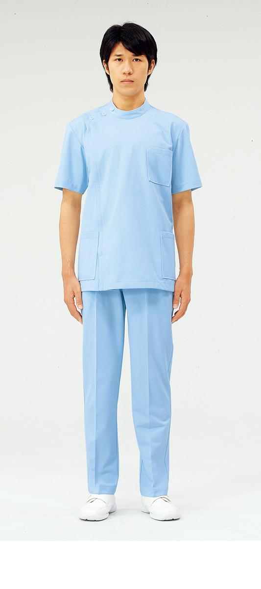 【モンブラン】72-704【ケーシー(KC)・男子白衣・半袖上衣】