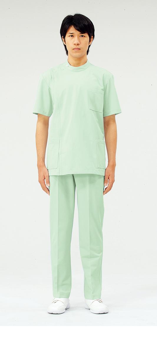 【モンブラン】72-708【ケーシー(KC)・男子白衣・半袖上衣】