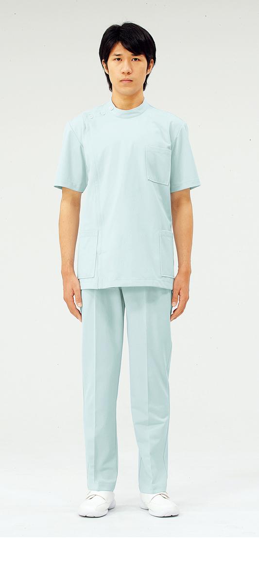 【モンブラン】72-718【ケーシー(KC)・男子白衣・半袖上衣】