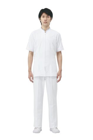 【モンブラン】72-844【ジャケット(メンズ)・男子白衣・半袖上衣】