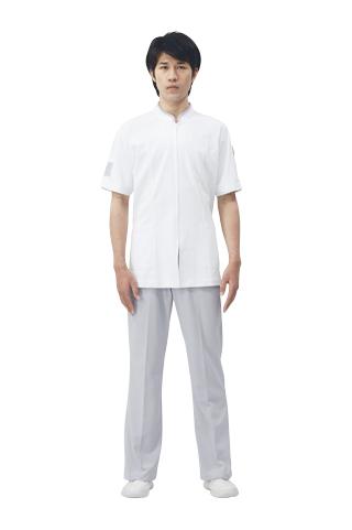 【モンブラン】72-846【ジャケット(メンズ)・男子白衣・半袖上衣】