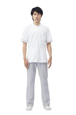 【モンブラン】72-856【ジャケット(メンズ)・男子白衣・半袖上衣】