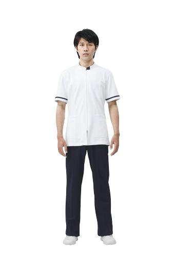 【モンブラン】72-858【ジャケット(メンズ)・男子白衣・半袖上衣】