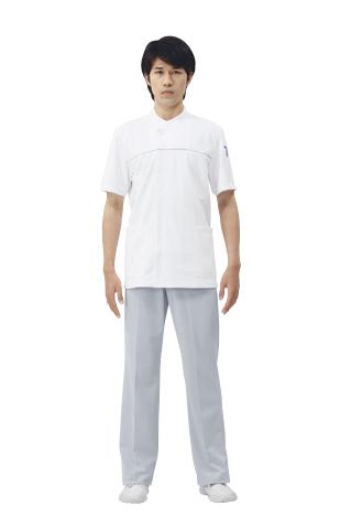 【モンブラン】72-866【ジャケット(メンズ)・男子白衣・半袖上衣】