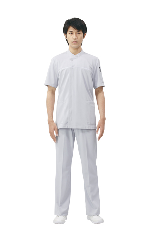 【モンブラン】72-878【ジャケット(メンズ)・男子白衣・半袖上衣】