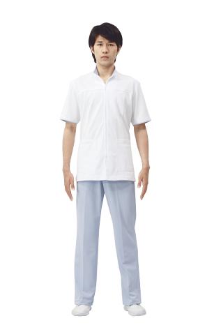 【モンブラン】72-904【ジャケット(メンズ)・男子白衣・半袖上衣】