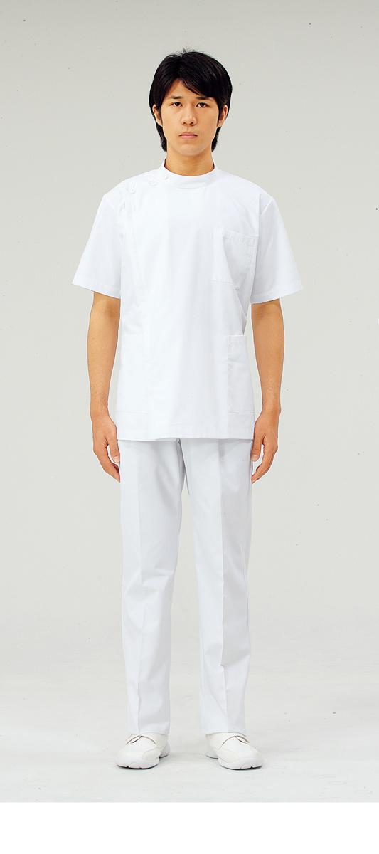 【モンブラン】72-952【ケーシー(KC)・男子白衣・半袖上衣】