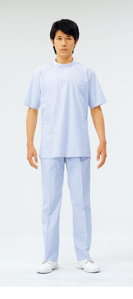 【モンブラン】72-956【ケーシー(KC)・男子白衣・半袖上衣】
