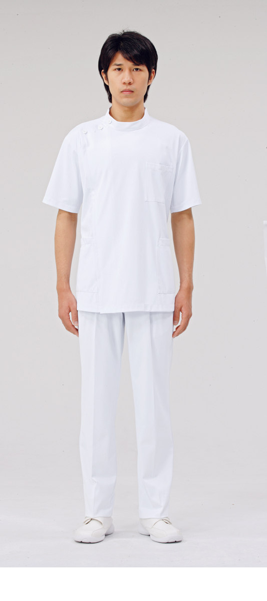 【モンブラン】72-962【ケーシー(KC)・男子白衣・半袖上衣】