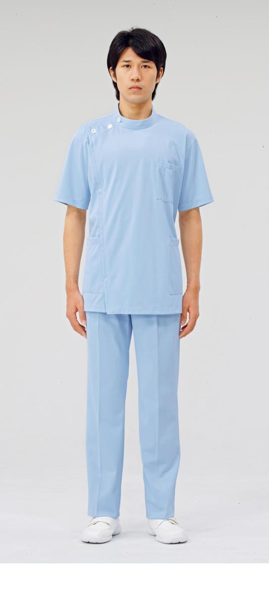 【モンブラン】72-964【ケーシー(KC)・男子白衣・半袖上衣】