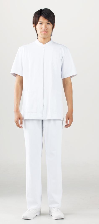 【モンブラン】72-982【ケーシー(KC)・男子白衣・半袖上衣】