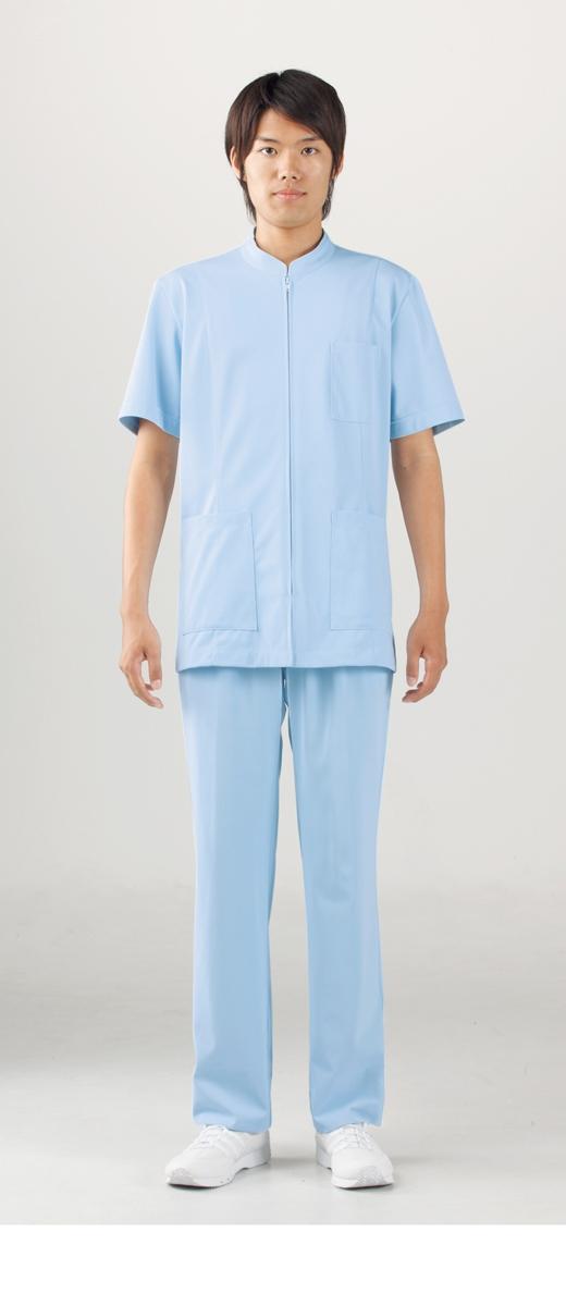 【モンブラン】72-984【ケーシー(KC)・男子白衣・半袖上衣】