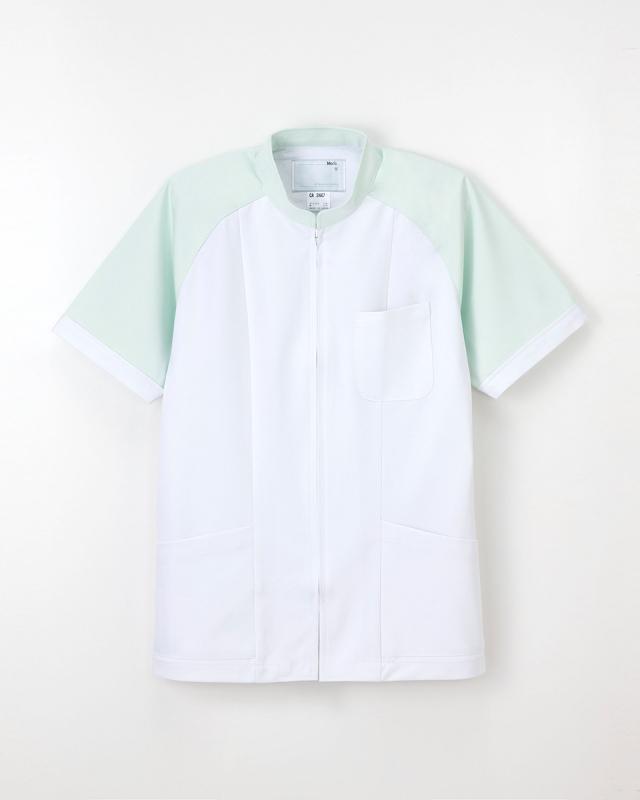 【ナガイレーベン】CA-2447【男性白衣・半袖上衣】