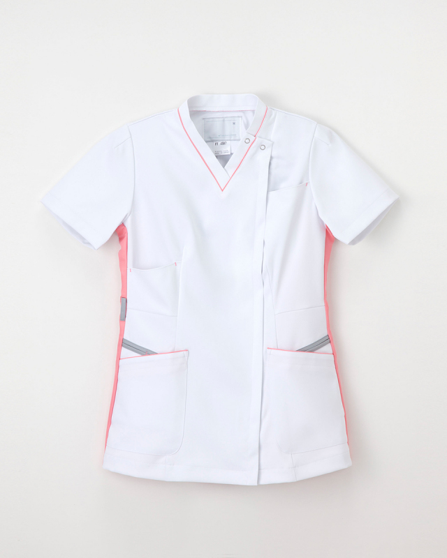 【ナガイレーベン】FT-4597【レディーススクラブスタイル上衣・白衣・ナースウェア】☆2015年新作商品