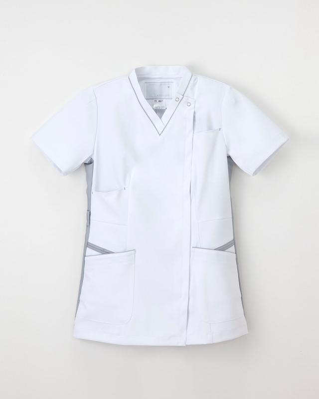 【ナガイレーベン】FT-4627【レディーススクラブスタイル上衣・白衣・ナースウェア】☆2015年新作商品