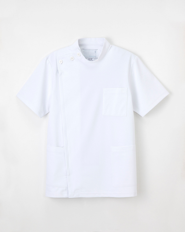 【ナガイレーベン】HO-1967【メンズ白衣・男子KC・半袖】