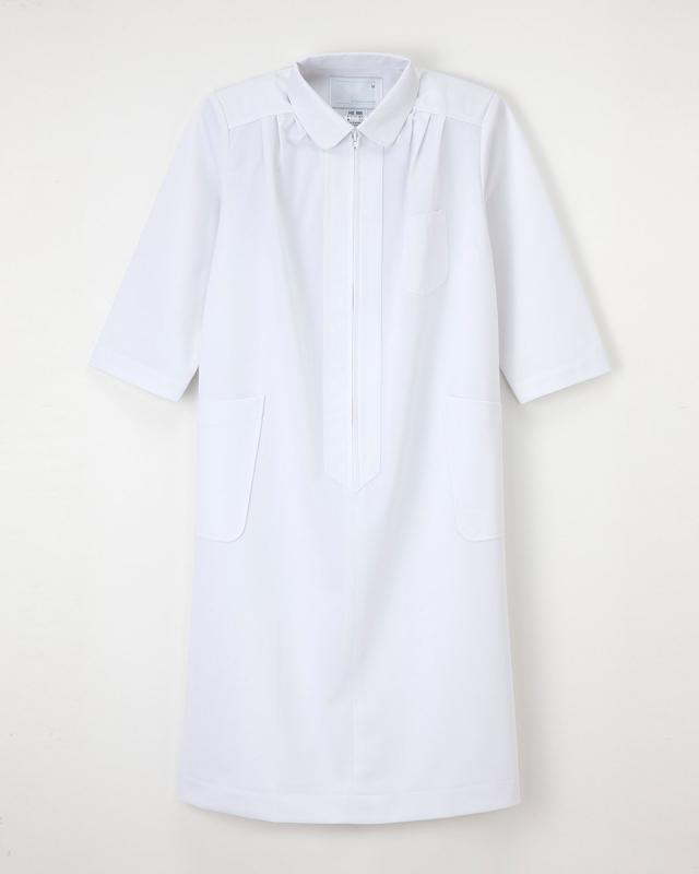 【ナガイレーベン・マタニティウェア】HS-986【ナースウェア・ワンピース・七分袖】