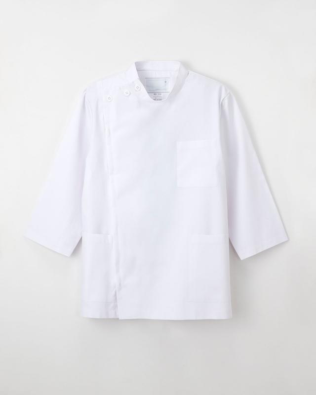 【ナガイレーベン】KES-5165【メンズ白衣・男子KC・8分袖】