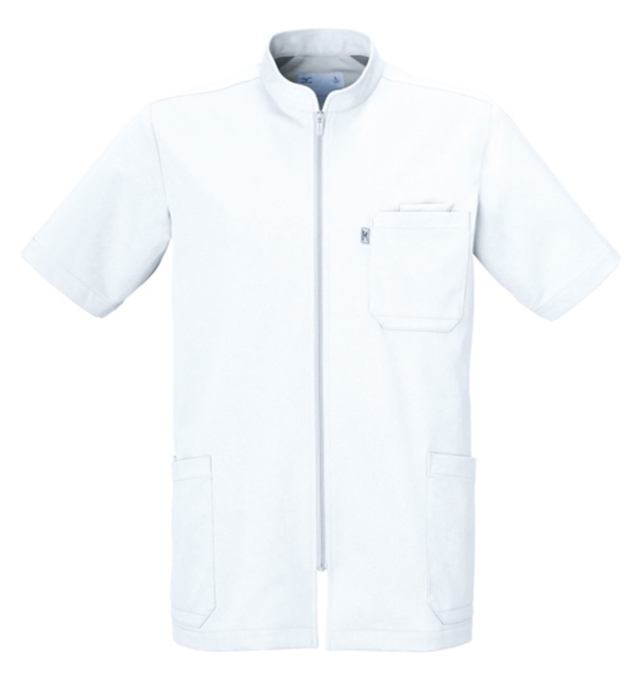 【unite×ミズノ】MZ-0012【メンズケーシージャケット・KC・男性白衣・半袖上衣・Dynamotion Fit】