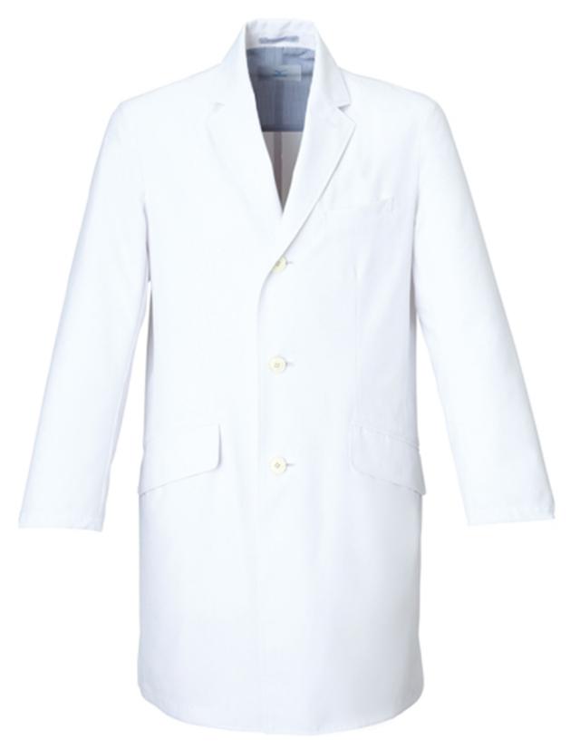 【unite×ミズノ】MZ-0025【メンズドクターコート・男性白衣・長袖・Dynamotion Fit】