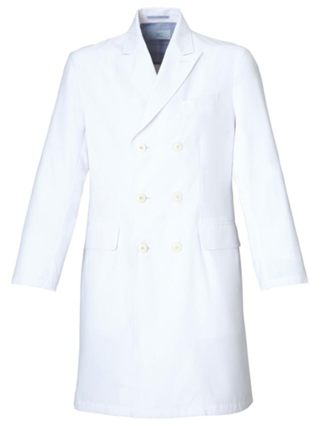 【unite×ミズノ】MZ-0026【メンズドクターコート・男性白衣・長袖・Dynamotion Fit】