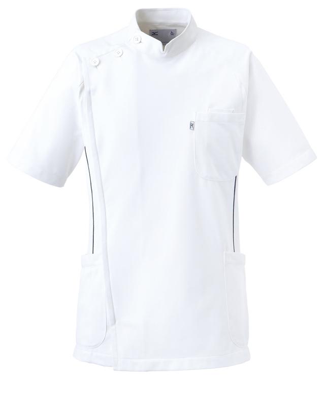 【unite×ミズノ】MZ-0049【メンズケーシージャケット・KC・男性白衣・半袖上衣・Dynamotion Fit】
